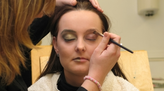 Zwart-wit make-up